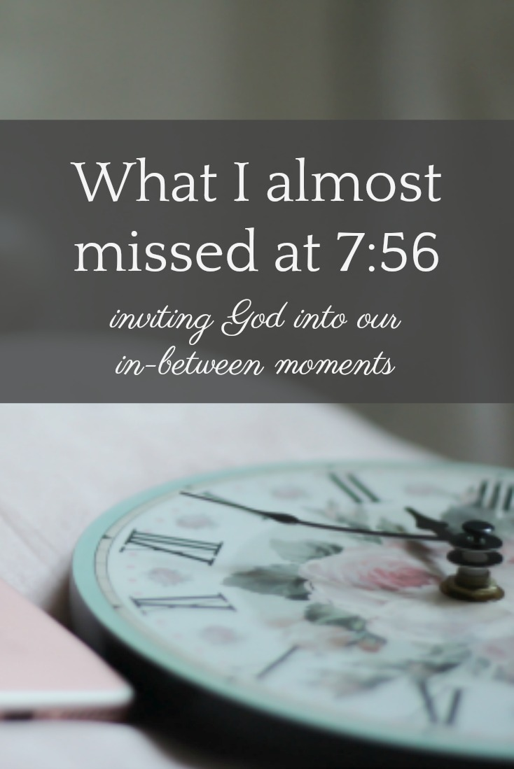 What might it look like to invite God into our in-between moments? Instead of choosing distraction, what if we chose Him?