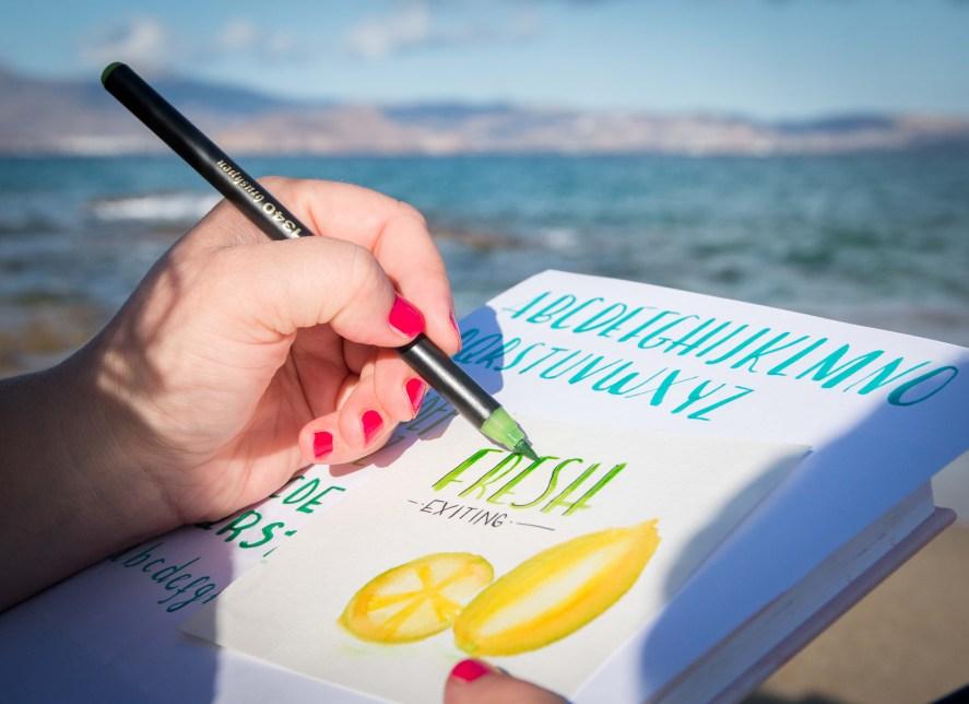 Lettering Edding Brushpen