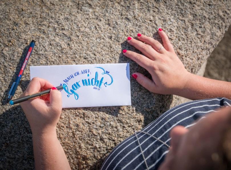 Lettering mit Edding
