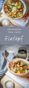 Ein herzhafter low carb Eintopf mit Gemüse und Fleisch als optimales Gericht für gesunde Ernährung nach der Logimethode. | Ichsowirso.de