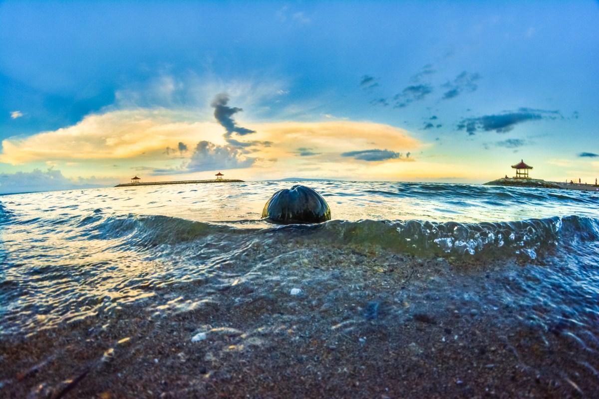 Bali coucher de soleil coconut