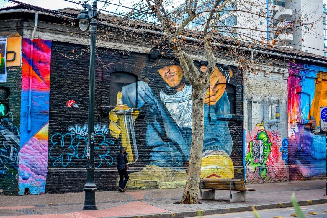 santiago chili blog voyage icietlabas ici et la bas barrio bellavista streetart street art
