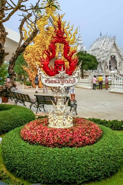 Wat Rong Khun White Temple Temple Blanc Chiang Rai Thailande (4)