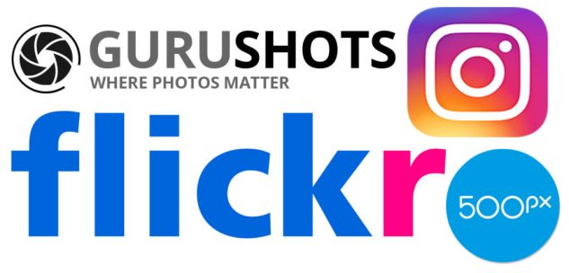 logo sites de partage flickr instagram gurushots 500px tutoriel photo icietlabas blog voyage blogvoyage