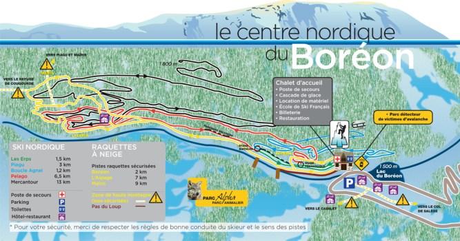plan Centre Nordique du Boréon Mercantour dans les Alpes Maritime