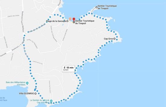 sentier du littoral cap d'antibes paca provence blog voyage icietlabas