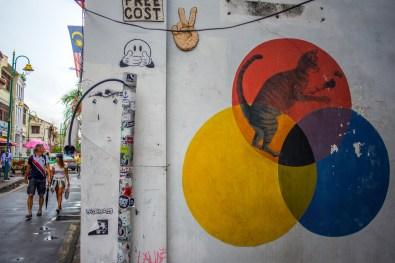 Street art à Georgetown Penang Malaisie Asie blogvoyage Icietlabas 101 Lost Kittens - Les 101 Chatons Perdus