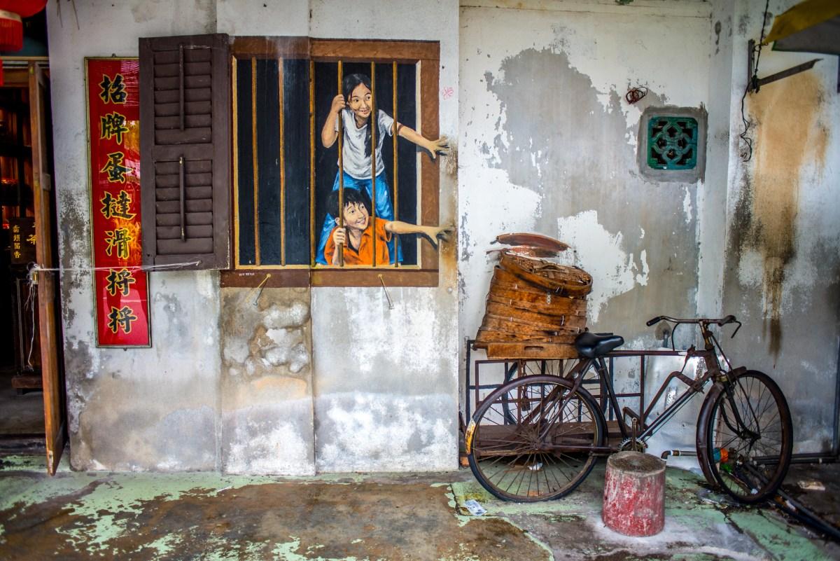 Street art à Georgetown Penang Malaisie Asie blogvoyage Icietlabas wk Sector