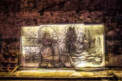 Street art à Georgetown Penang Malaisie Asie blogvoyage Icietlabas Marking Georgetown