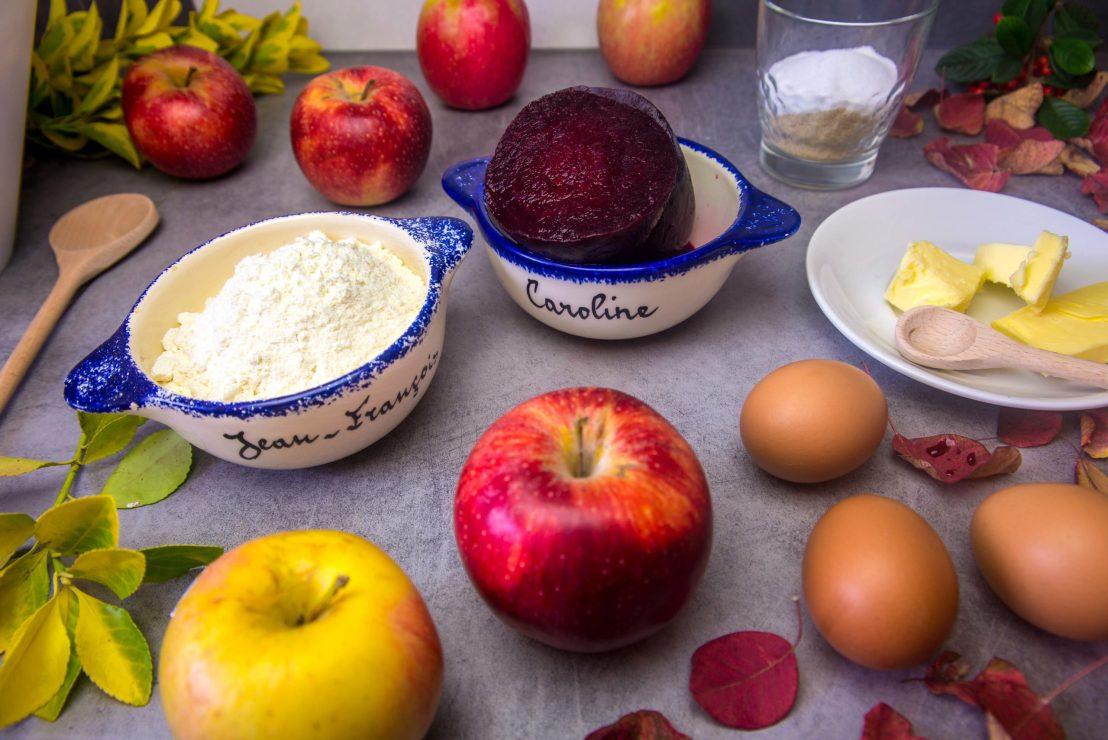 Cake Marbré Betterave-Pommes recette blog voyage