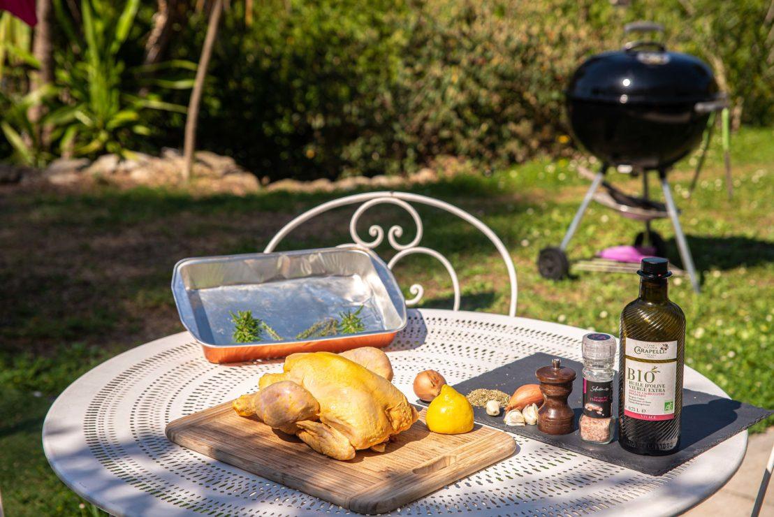 Poulet au Barbecue chaleur tournante weber blog voyage