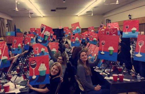 Paint n Sip Fundraiser night with Yumease Bakery