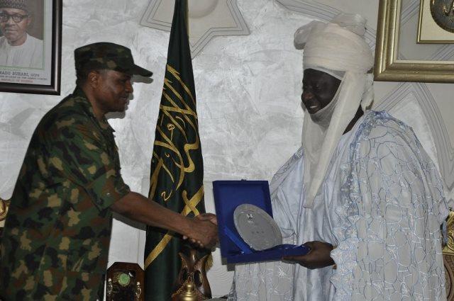 CAS Sadique Abubakar with the Emir of Minna, Umar