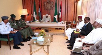 Buhari orders service chiefs to attack all threats to Nigeria's unity