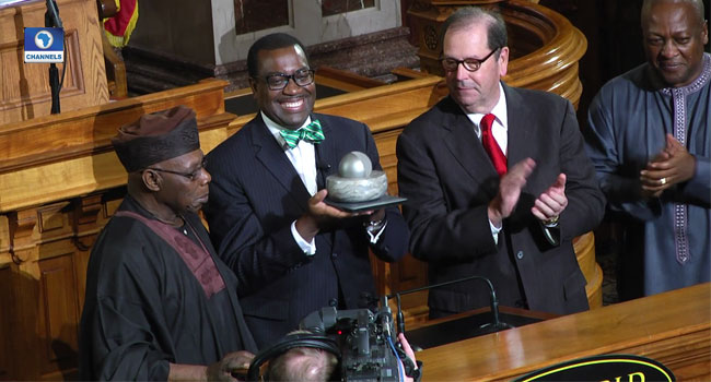 Adesina 'donates' $250,000 World Food Prize money to African youth