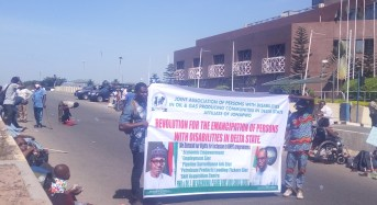 Physically challenged protesters lay siege to NNPC headquarters