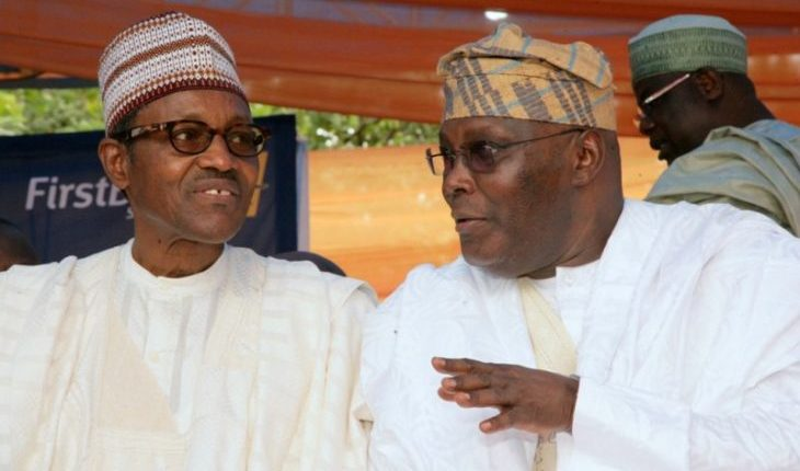 File photo: Muhammadu Buhari and Abubakar Atiku.