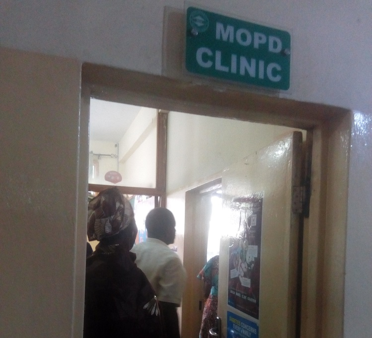 Adamu Lami at the Medical Outpatient Department of the Wuse District Hospital, Abuja. Credit: ICIR