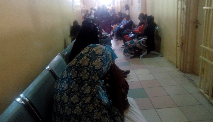 People waiting to see the doctors at the Medical Out-patients Department (MOPD) of the Wuse District Hospital, Abuja. Credit: Abuja