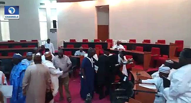 Members of the ninth Bauchi Assembly after the first election which saw the emergence of Abubakar Suleiman as Speaker