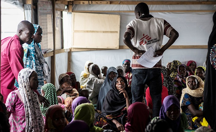 File photo. MSF teams provide medical care to internally displaced living in Ngala camp. Credit:MSF