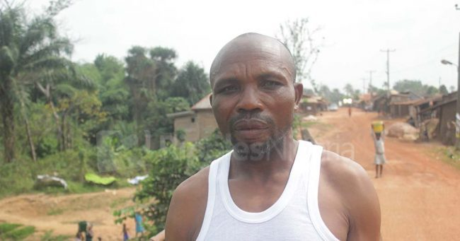 Kalu Akuma, a resident of the community said the contractors handling the project abandoned the site for a long time until recently. Photo by Patrick Egwu