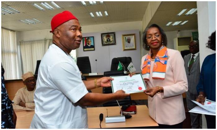 Hope Uzodinma certificate of return