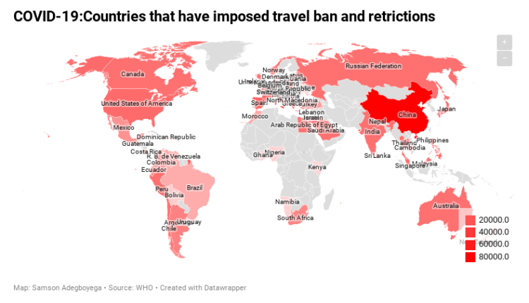 Nigeria Coronavirus travel ban