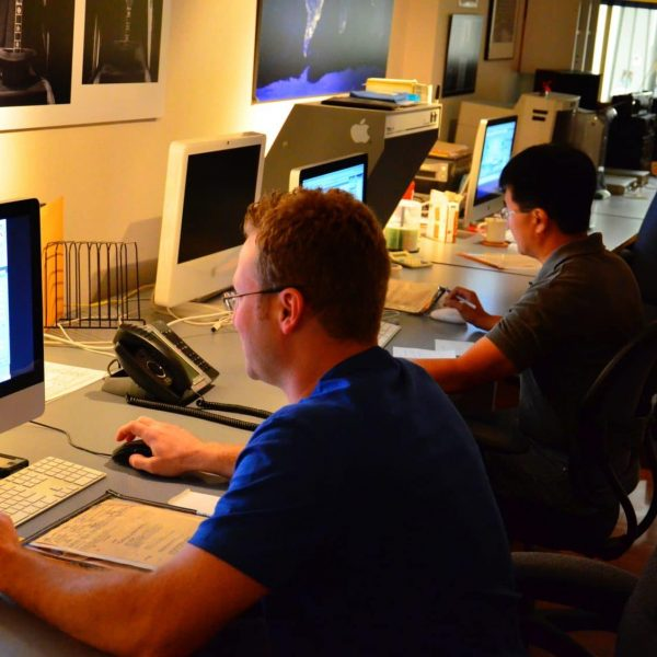 Prepping digital files at ICL Imaging for printing
