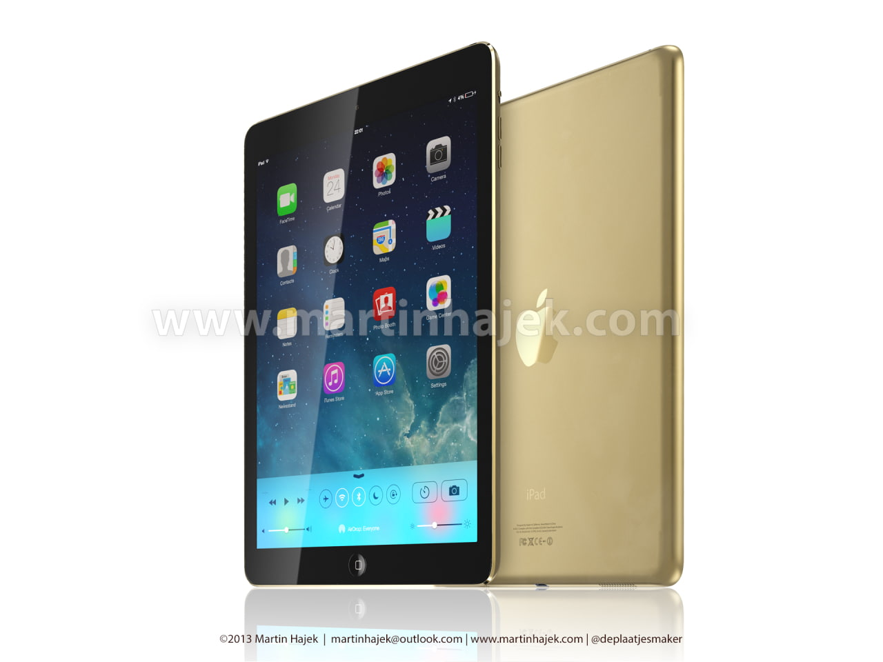 Gold iPhone 5S and iPad 5