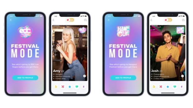 Tinder Introduces Festival Mode