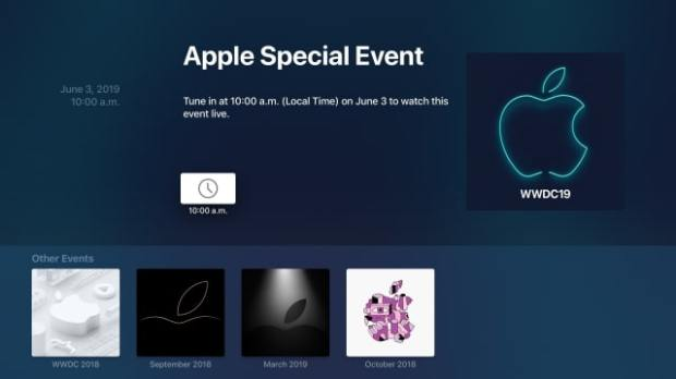 Apple Events App Gets Updated for WWDC 2019 Keynote