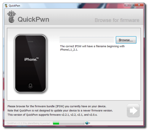 quickpwn pour iphone 3g