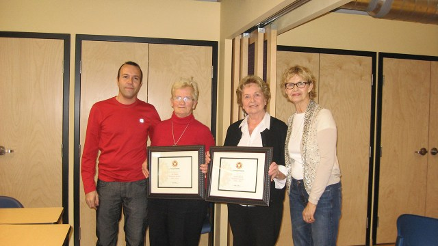 From right to left: I.C Executive Director Linda Lalande, Volunteers Lena Johnson and Iva Wilson, and AEC Coordinator Walter Luzzi