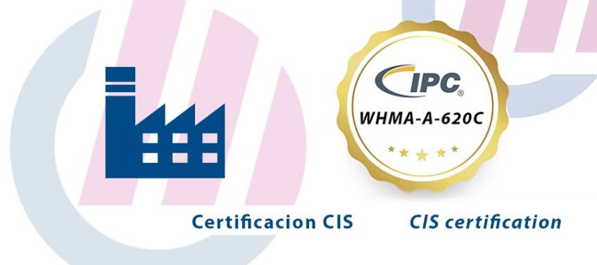Certificación CIS, en IPC, para fabricación de cableado a medida