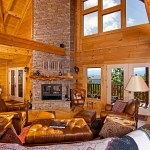 Log Cabin Decor With Beautiful Wooden Color Icmt Set