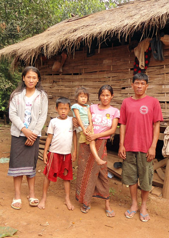Families in Laos face persecution if they practice the Christian faith