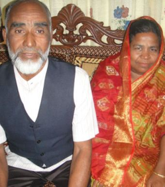 Hossain Ali and his wife