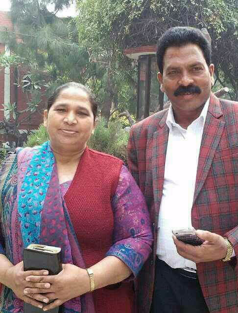 Pastor Sultan and his wife, Sarabjit