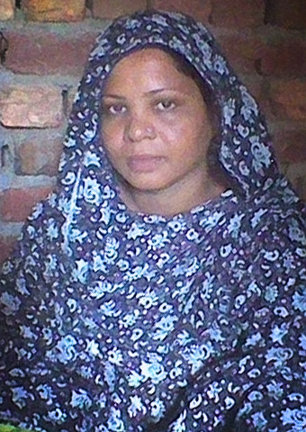 Asia Bibi's photo was taken during a visit to her prison cell.