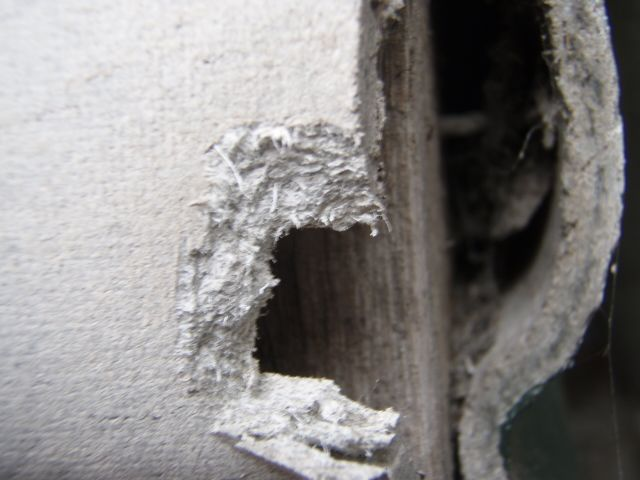 photo of a wall with asbestos