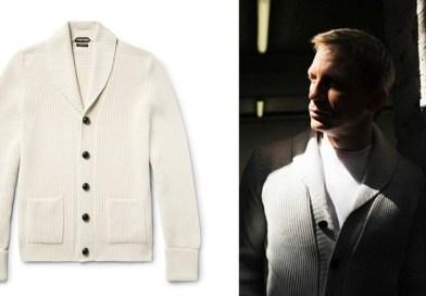 affordable alternatives Tom Ford Ivory Shawl Collar Cardigan