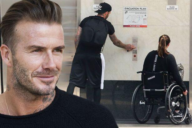 David Beckham Saves Old Lady Who Falls Outside His House image