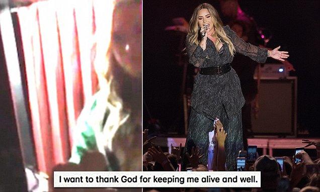 Demi Lovato Thanks GOD For Keeping Her Alive! image