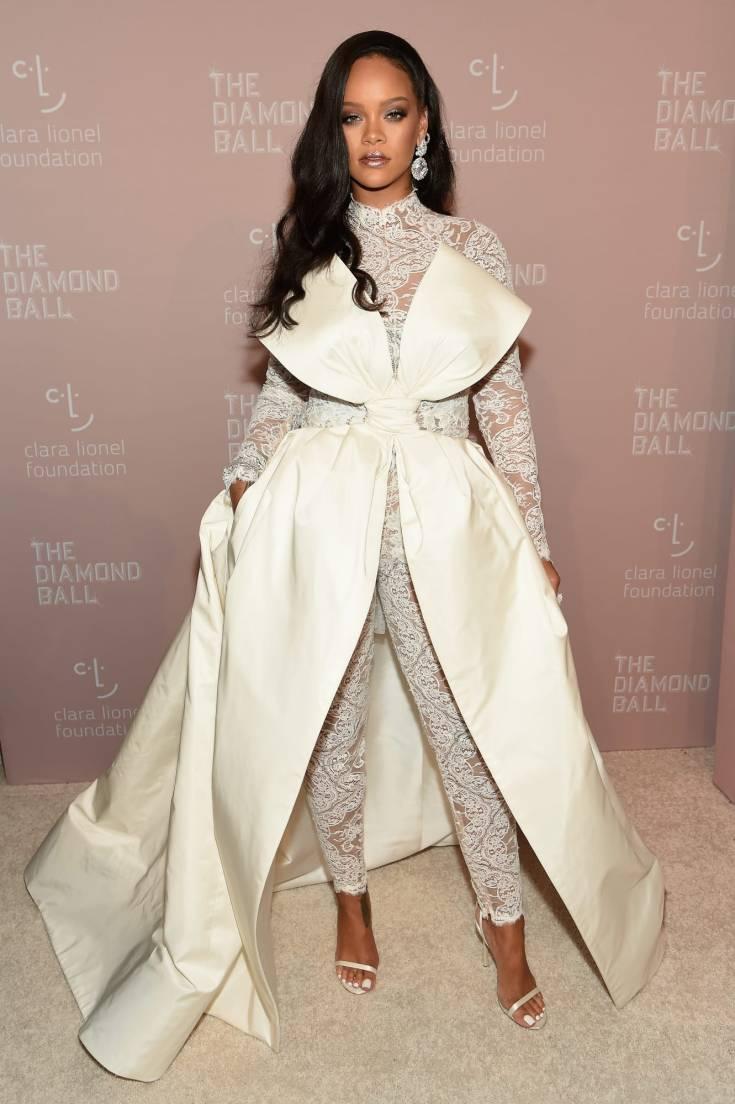 Rihanna and Fashionable Celebs Attend the DIAMOND BALL! image