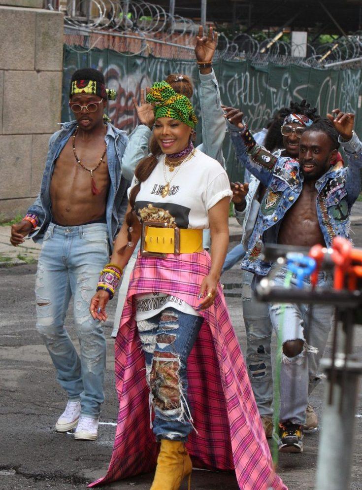Janet Jackson Shoots Colorful Music Video image