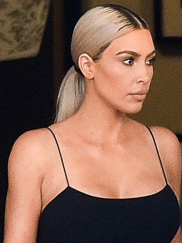 Kim Kardashian Wears a Big Little Black Dress for Serena Williams' Wedding image