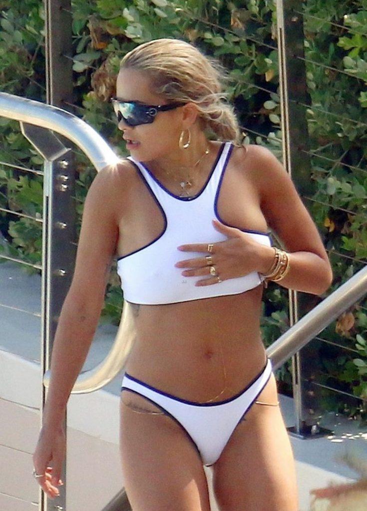 HOT MOMMA! Rita Ora Wears Skimpy Bikini to Pool in French Riviera image