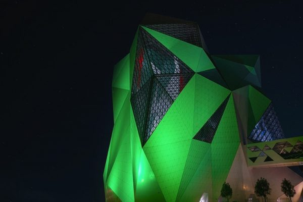 Yas Island goes green for Saudi National Day!
