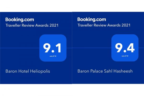 Baron Hotels & Resorts Egypt received the Traveller Review Award 2021